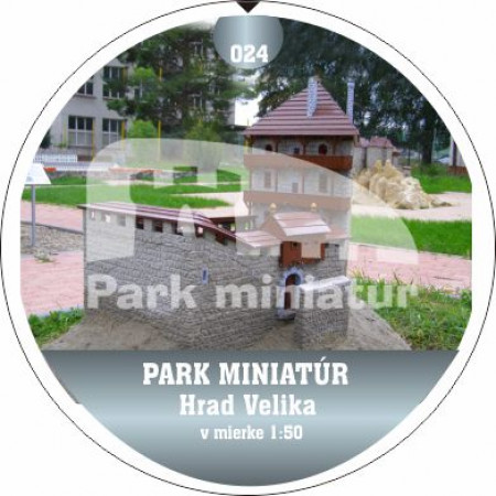 Button PM model 024 Hrad Velika (Chorvátsko)